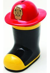 Fireman Boot with Hat - Fill The Boot - Ceramic