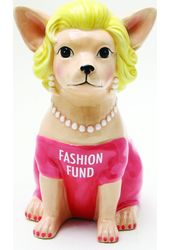 Puppy - Chihuahua In Pink - Fashion Fund Ceramic