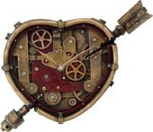 Steampunk - Clockwork Heart Clock