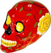 Day of the Dead - Skull - Red Figurine