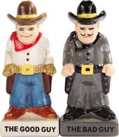 Bad Guy, Good Guy - Salt and Pepper Shakers