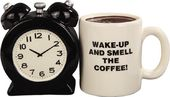 Alarm Clock & Coffee Mug - Magnetized Ceramic