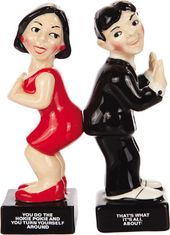 Hokie Pokie Dancers - Magnetized Ceramic Salt &