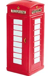 British Telephone Booth Money Bank