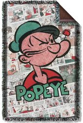 Popeye - Panels Woven Throw