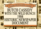 Butch Cassidy - 1904 Historic Document: Butch