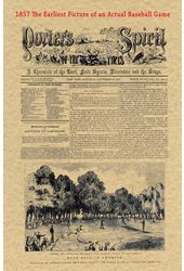 Baseball - 1857 Historic Document: The Earliest