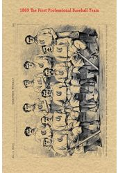 Baseball - 1869 Historic Document: The First