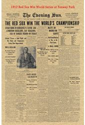 Baseball - 1912 Historic Document: Red Sox Win