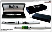 The Beatles - Drop T & Apple Logo: White Pen in