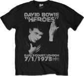 David Bowie - Heroes Live at Earl's Court T-shirt