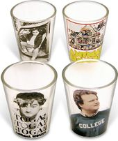 Animal House - 4-Piece Clear Shot Glass Set