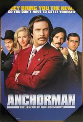 Anchorman - Movie Poster - Printed Wood Wall Sign