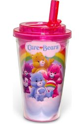 Care Bears - 16oz Plastic Flip Straw Cold Cup