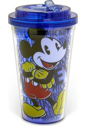 Disney - Mickey Mouse - 16 oz. Plastic Flip Straw