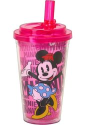 Disney - Minnie Mouse - 16 oz. Plastic Flip Straw