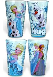 Frozen - 4pc 16oz Pub Glass Sets Colored Glass