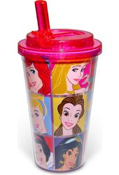 Disney - Princesses - Grid - 16 oz. Plastic Flip