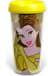 Belle - 16oz Plastic Travel Mug Glitter