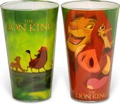 Disney - Lion King 2 pc Pub Set Colored Glass