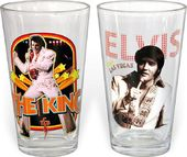 Elvis Presley - The King - 2-Piece 16 oz. Clear