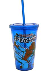 Marvel Comics - Spiderman - Swings: Blue 16 oz.