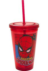 Marvel Comics - Spiderman - Red 16 oz. Plastic