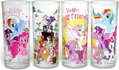 My Little Pony - 4pc 10oz Glass Tumblr Set