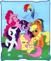 "My Little Pony - Frienship is Magic 50"" x 60"""