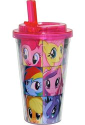 My Little Pony Grid 16oz Plastic - 16oz Plastic