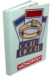 "Monopoly - Gold Digger Hard Cover Journals 6""x8"""