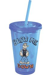 Popeye - Blow Me Down: 16 oz. Plastic Cold Cup