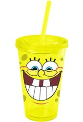 Sponge Bob - Laugh: 16 oz. Plastic Cup with Lid &