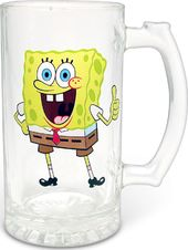 Sponge Bob - Thumbs Up: 25 oz. Glass Stein