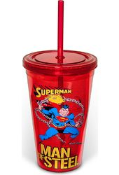 DC Comics - Superman: Man of Steel - 16 oz. Red