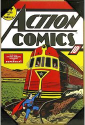 DC Comics - Superman - Train - Printed Wood Wall
