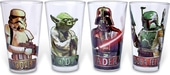 Star Wars - 4 Piece 16 oz. Clear Pint Glass Set