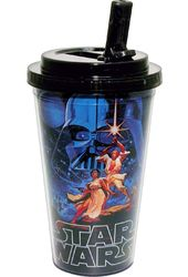 Star Wars - A New Hope: 16 oz. Plastic Flip Straw