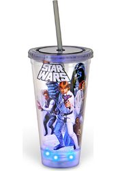 Star Wars Cast - 16oz LED Plastic Cold Cup w/Lid