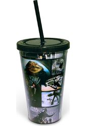 Star Wars - Grid: 16 oz. Plastic Cup With Lid &