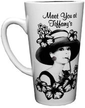 Audrey Hepburn - Black & White with Hat - 16 oz.