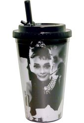 Audrey Hepburn - Black & White Cafe - 16 oz.