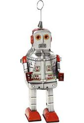 Retro Toy - Space Wind-Up Robot Tin Toy