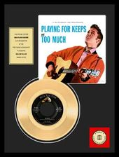 "Elvis Presley - Too Much - Framed 12"" x 16"" Gold"