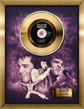 Elvis Presley - Suspicious Minds - Framed Gold