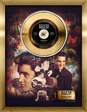 Elvis Presley - Heartbreak Hotel - Framed Gold