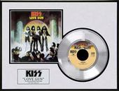 "KISS - Love Gun - Framed 12"" x 16"" Platinum Record"