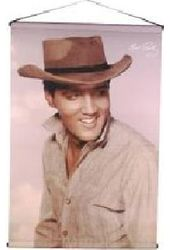 Elvis Presley - Hat Rose Color - Wall Scroll
