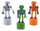Retro Toy - Robot - Wooden Push Robot Toy (Sold