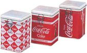 Coca-Cola - Checkered Can: Square Locktop Tin
